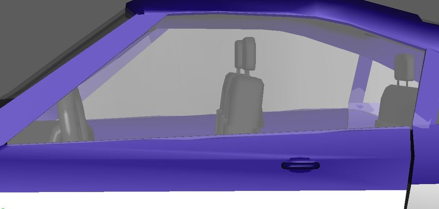 Low Poly Car royalty-free 3d model - Preview no. 5