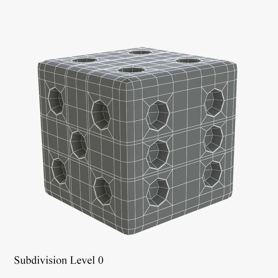Dice royalty-free 3d model - Preview no. 9