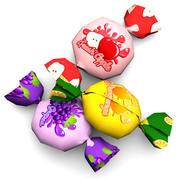 Bonbons au caramel 3d model