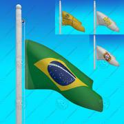ブラジルの国旗-アニメーションコレクション 3d model