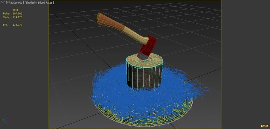 axe royalty-free 3d model - Preview no. 6