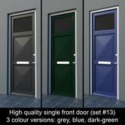 Wysokiej jakości pojedyncze drzwi wejściowe (zestaw nr 13) 3d model