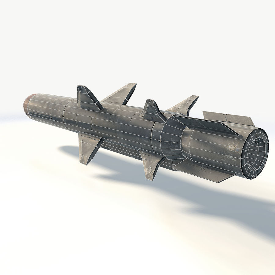 Military rocket missile royalty-free 3d model - Preview no. 5