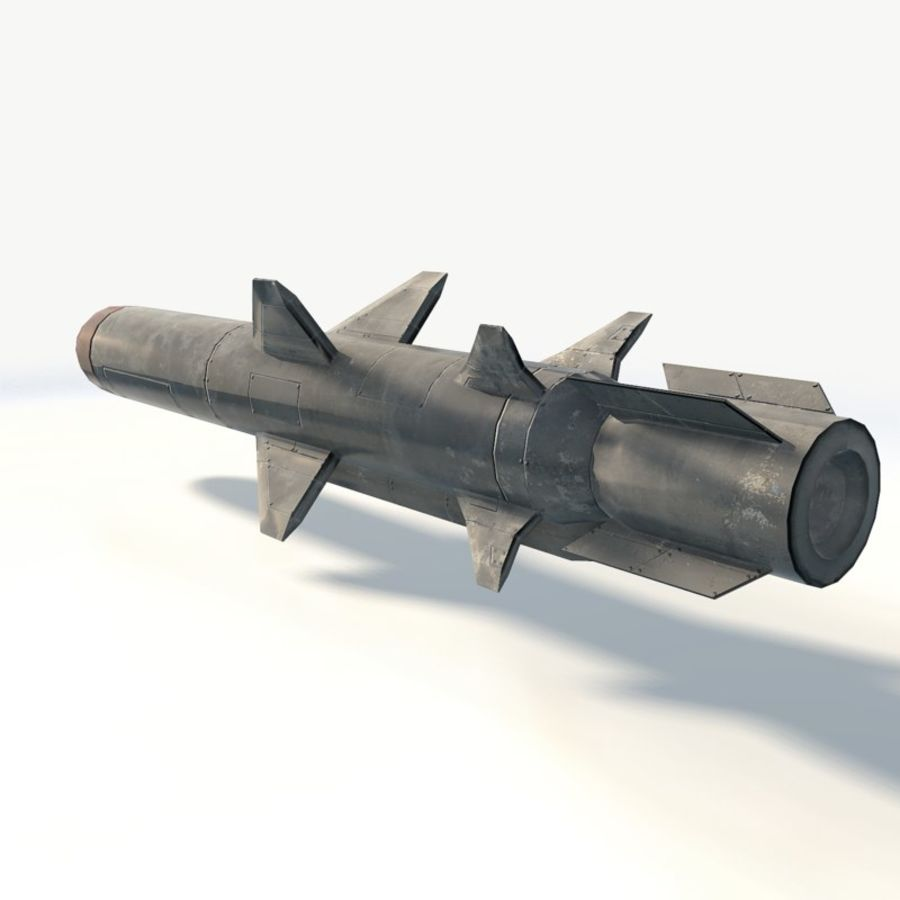 Military rocket missile royalty-free 3d model - Preview no. 4