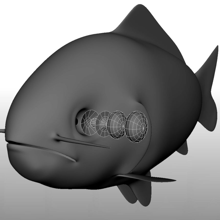 fish royalty-free 3d model - Preview no. 4