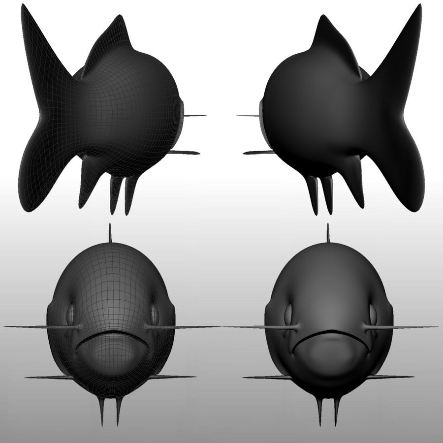 fish royalty-free 3d model - Preview no. 3
