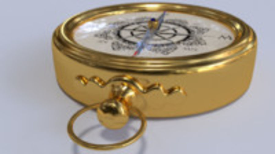 Kompas royalty-free 3d model - Preview no. 3