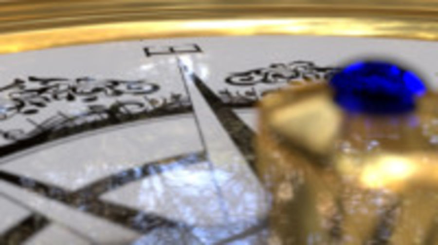 Kompas royalty-free 3d model - Preview no. 7