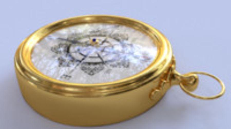 Kompas royalty-free 3d model - Preview no. 5