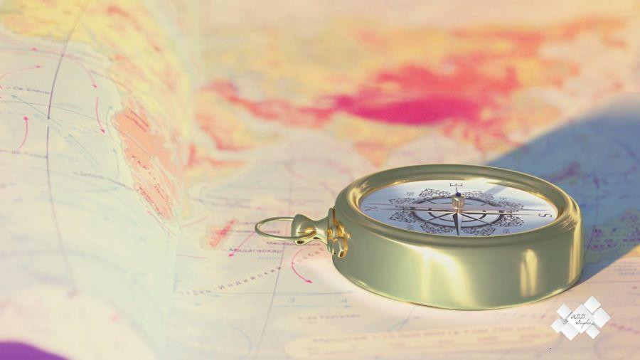 Kompas royalty-free 3d model - Preview no. 1