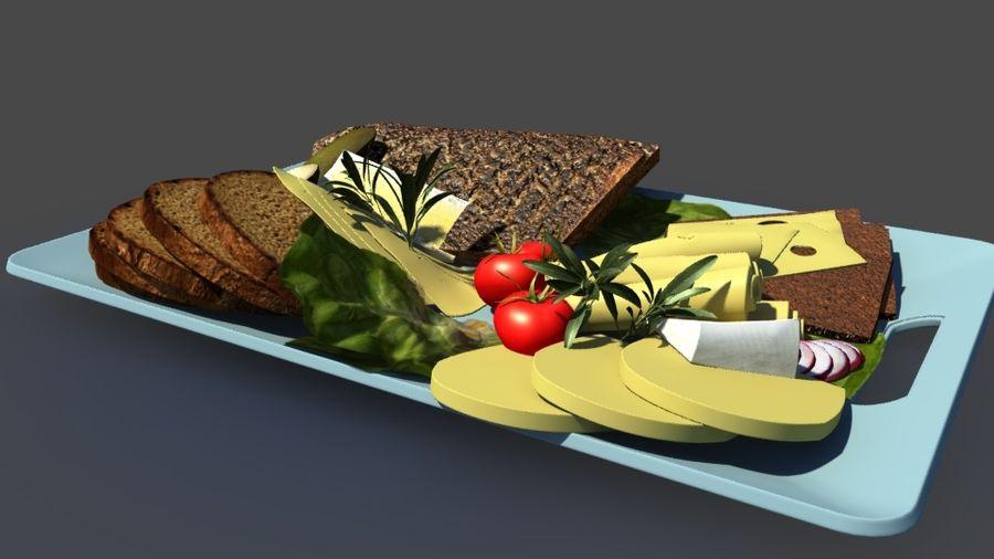 아침 식사 음식 빵 royalty-free 3d model - Preview no. 4