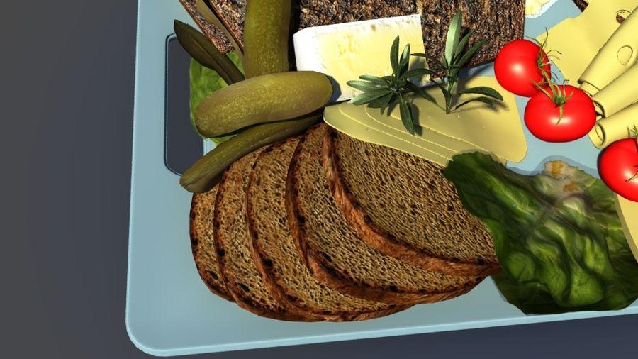아침 식사 음식 빵 royalty-free 3d model - Preview no. 2