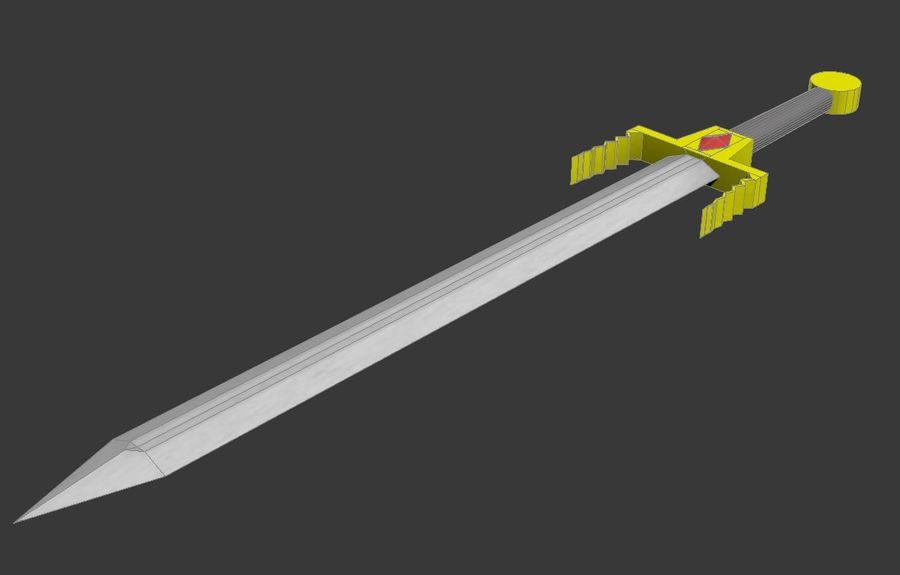 Fantasie zwaard royalty-free 3d model - Preview no. 5