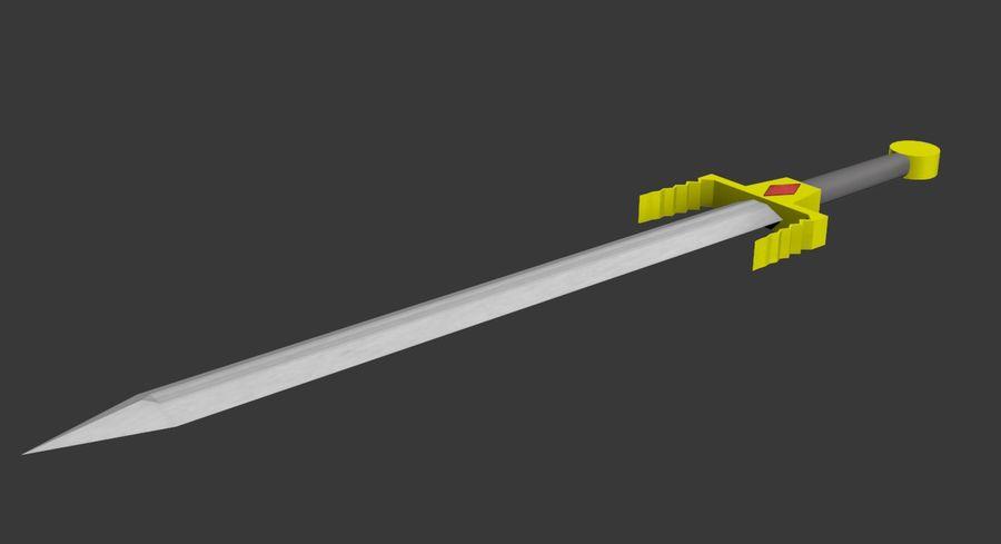 Fantasy Sword royalty-free 3d model - Preview no. 1