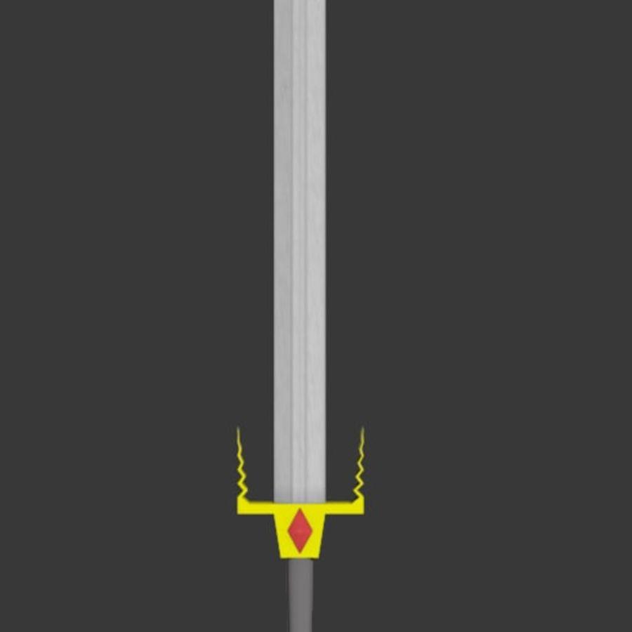 Fantasy Sword royalty-free 3d model - Preview no. 2