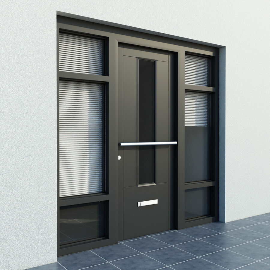 High Quality Model Of Door 6 Exterior Door With Blinds 3d Model 9 Obj Unknown Fbx Dxf 3ds Max Free3d