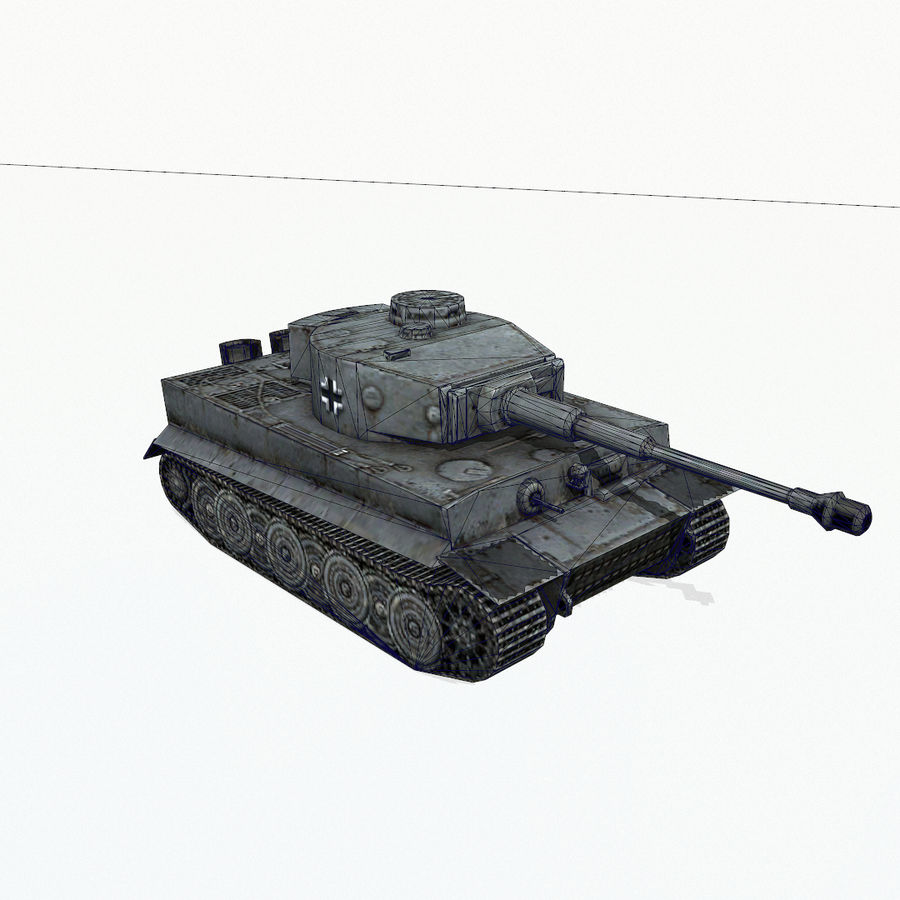 Tiger I royalty-free 3d model - Preview no. 11