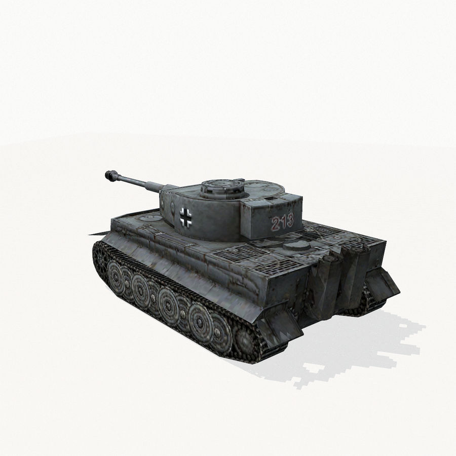 Tiger I royalty-free 3d model - Preview no. 4