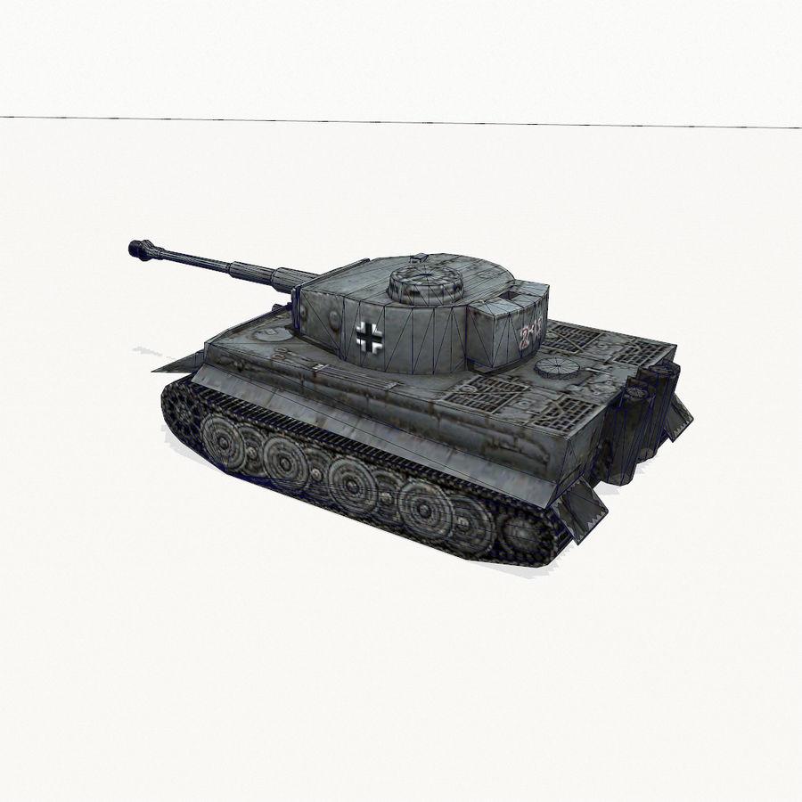 Tiger I royalty-free 3d model - Preview no. 12