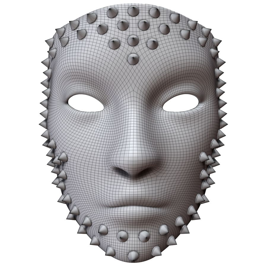 maska royalty-free 3d model - Preview no. 7