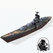 Encouraçado classe Bismarck 3d model