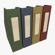 Office binders 3d model