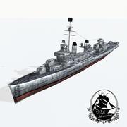 Niszczyciel klasy Fletcher 3d model