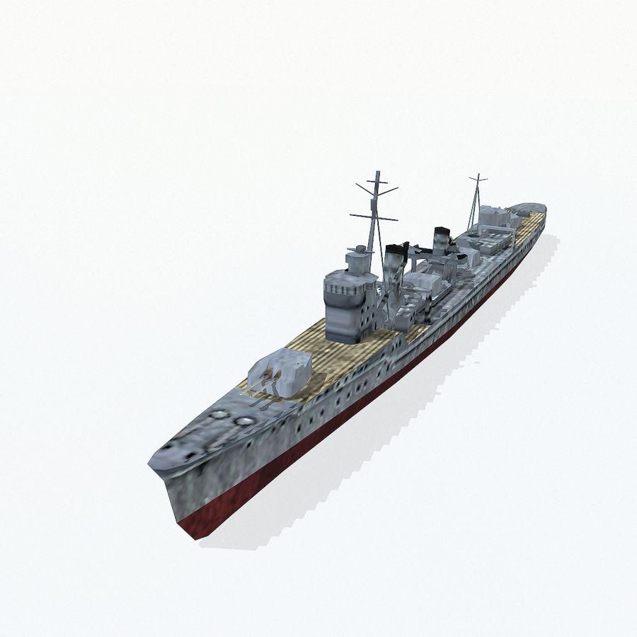 Kagero级驱逐舰 royalty-free 3d model - Preview no. 3