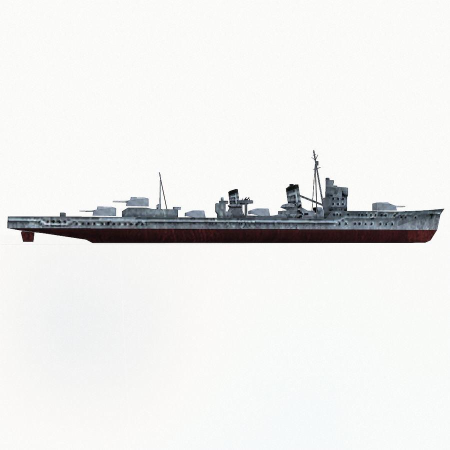 Kagero级驱逐舰 royalty-free 3d model - Preview no. 11