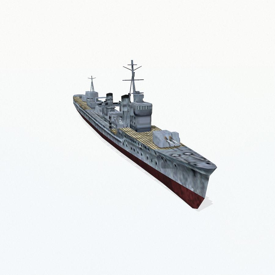Kagero级驱逐舰 royalty-free 3d model - Preview no. 4