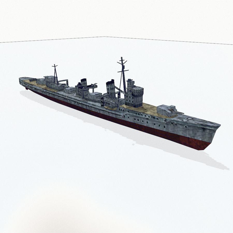 Kagero级驱逐舰 royalty-free 3d model - Preview no. 15