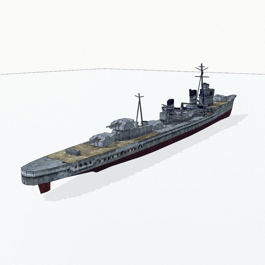 Kagero级驱逐舰 royalty-free 3d model - Preview no. 16