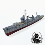 Distruttore di classe Kagero 3d model