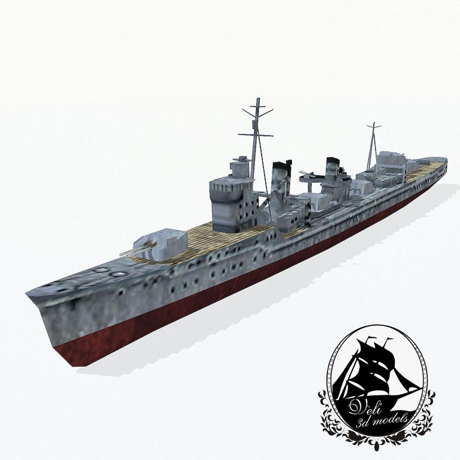 Kagero级驱逐舰 royalty-free 3d model - Preview no. 1