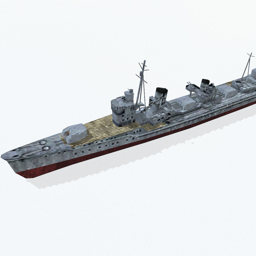 Kagero级驱逐舰 royalty-free 3d model - Preview no. 8