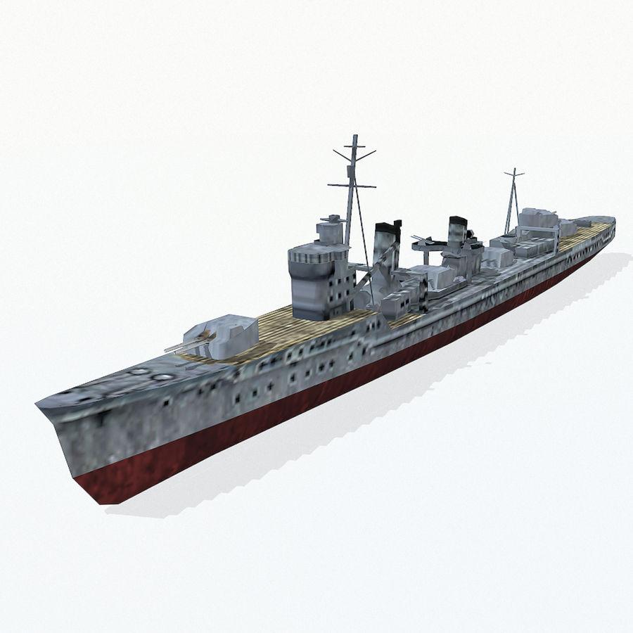 Kagero级驱逐舰 royalty-free 3d model - Preview no. 2