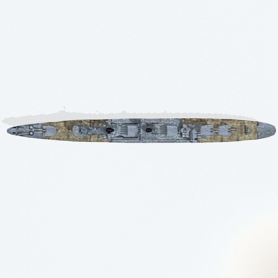 Kagero级驱逐舰 royalty-free 3d model - Preview no. 13