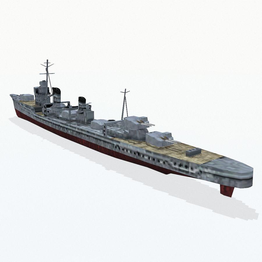Kagero级驱逐舰 royalty-free 3d model - Preview no. 7