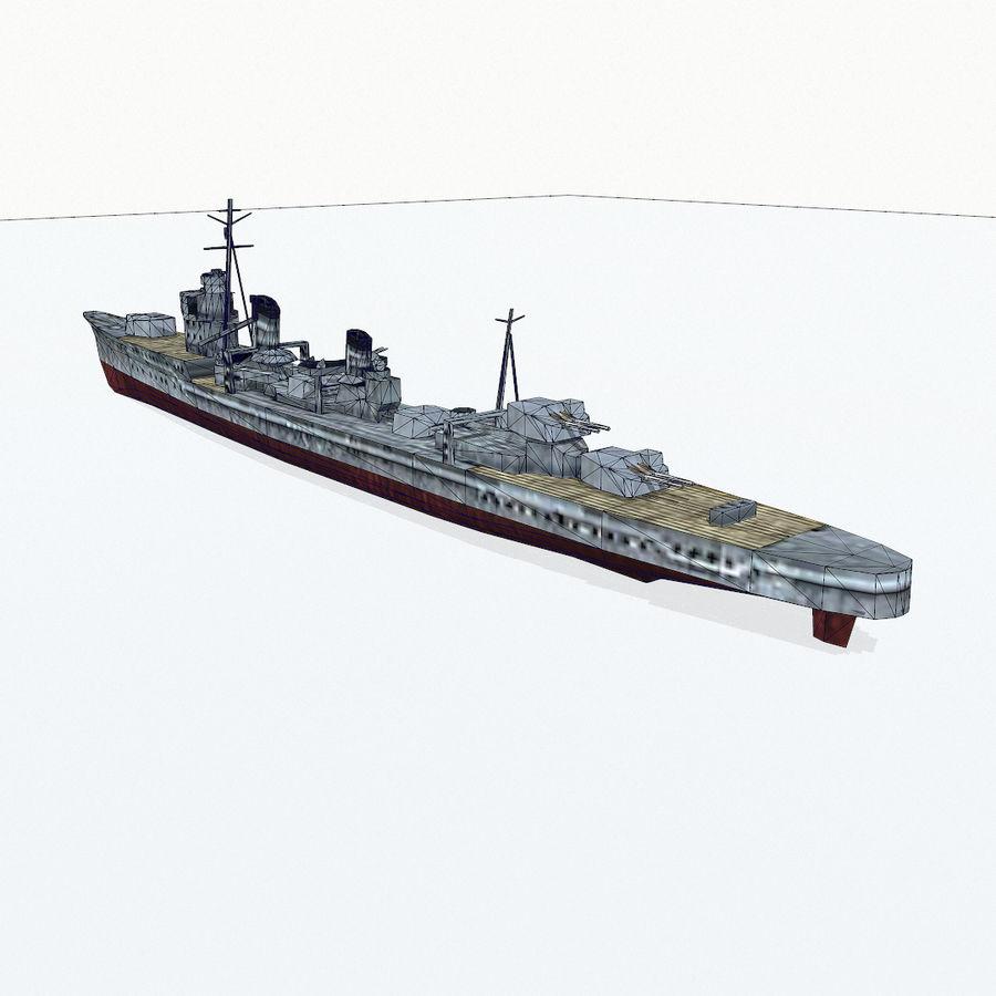Kagero级驱逐舰 royalty-free 3d model - Preview no. 17