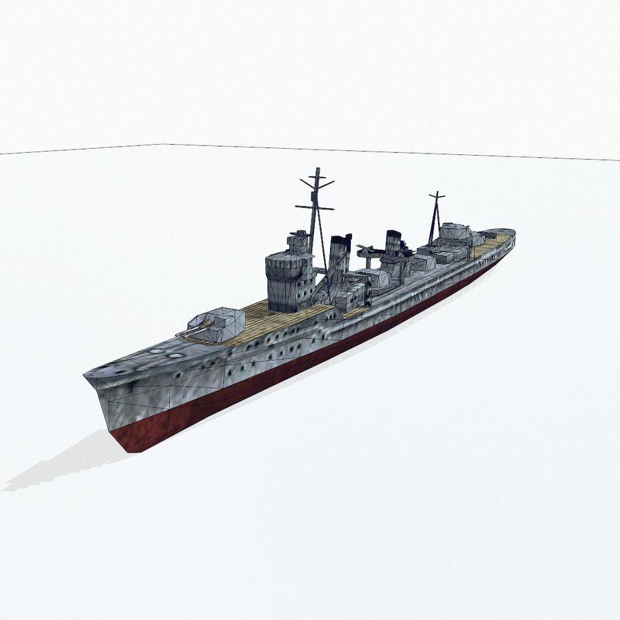 Kagero级驱逐舰 royalty-free 3d model - Preview no. 14