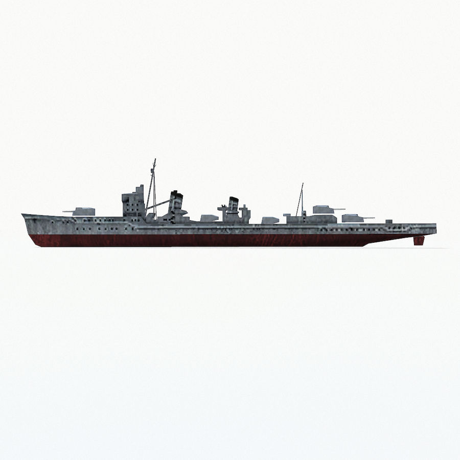 Kagero级驱逐舰 royalty-free 3d model - Preview no. 12