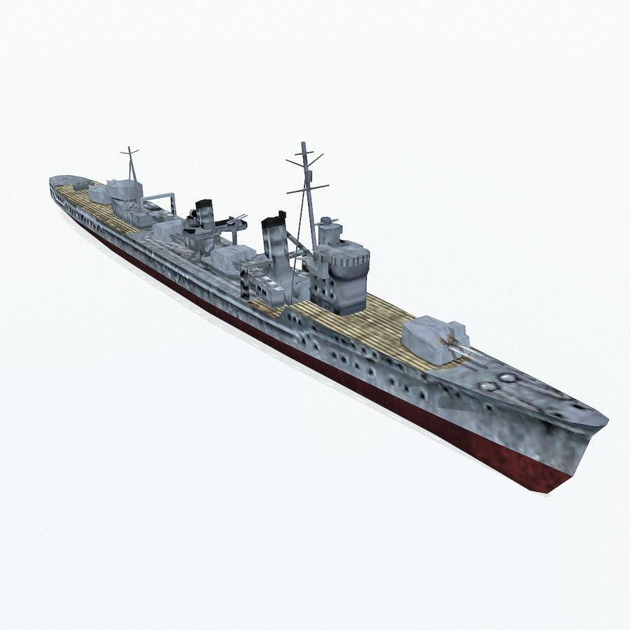 Kagero级驱逐舰 royalty-free 3d model - Preview no. 5