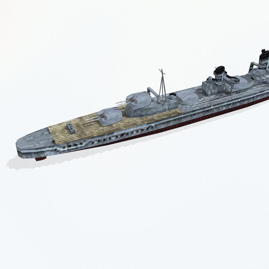 Kagero级驱逐舰 royalty-free 3d model - Preview no. 9