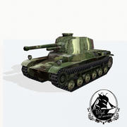 Tanque Chi-Nu tipo 3 3d model