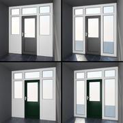 Högkvalitetsmodell av dörr # 8: interiör och exteriör fransk uteplats i PVC 3d model
