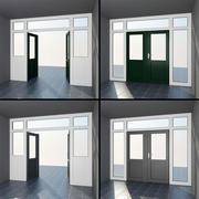 Högkvalitetsdörrar set 9: inre eller yttre PVC fransk uteplats 3d model