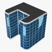Laag poly gebouw 3d model