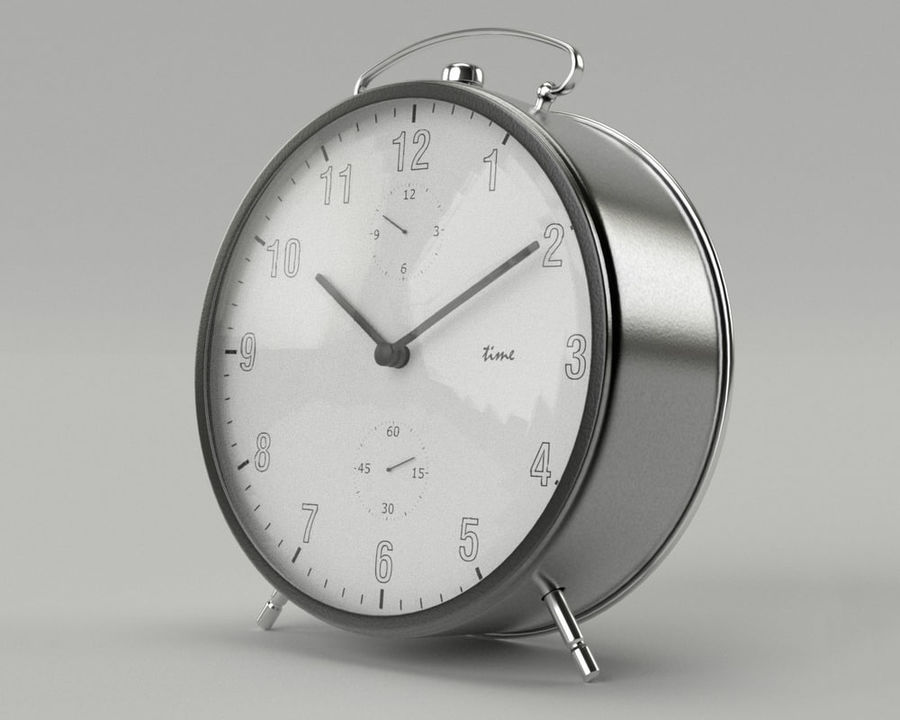 Reloj de alarma royalty-free modelo 3d - Preview no. 3