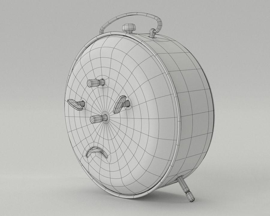 Reloj de alarma royalty-free modelo 3d - Preview no. 10