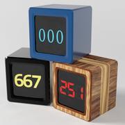 搅拌机的动画时间立方数计数器 3d model